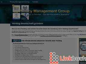 Holding Gesellschaft gründen Holding Strategien