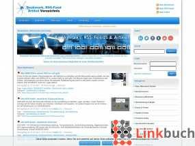 Vorschau auf Bookmarks, RSS-Feeds und Artikel Verzeichnis