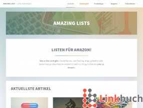 Vorschau auf Amazing Lists – Einkaufslisten für Amazon